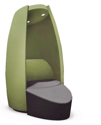 Cocoon with footstool